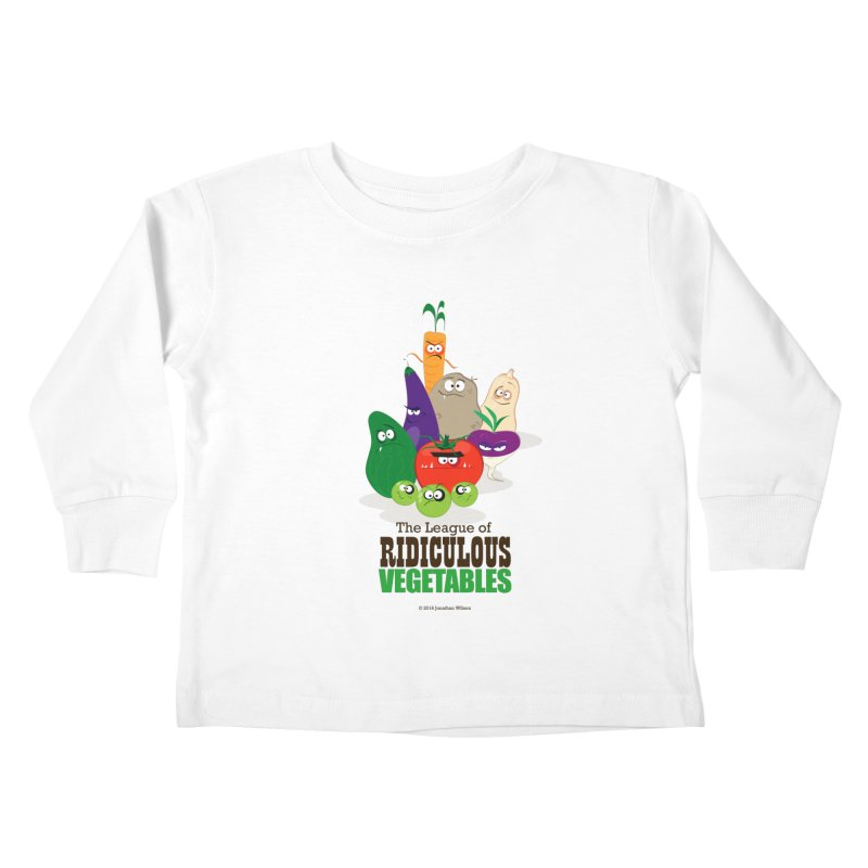The League of Ridiculous Vegetables Kids Toddler Longsleeve T-Shirt by Jonathan Wilson