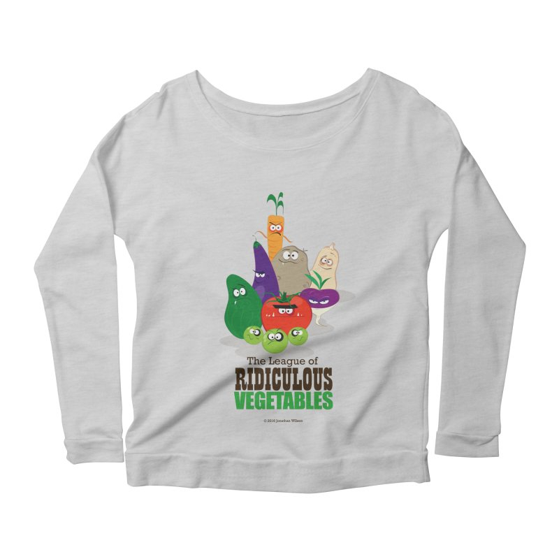 The League of Ridiculous Vegetables Women's Scoop Neck Longsleeve T-Shirt by Jonathan Wilson
