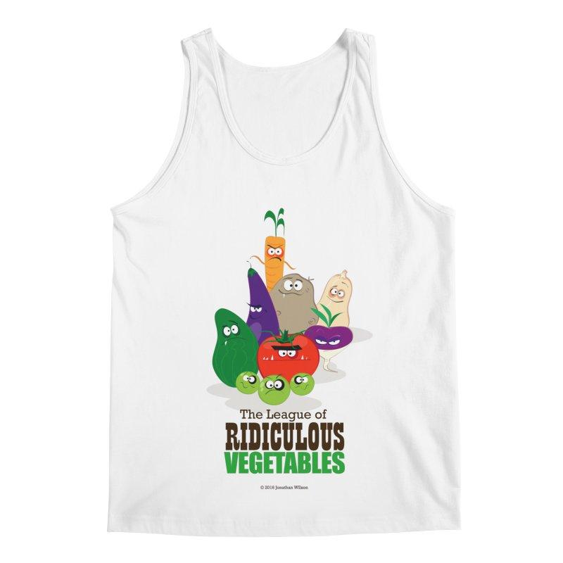 The League of Ridiculous Vegetables Men's Regular Tank by Jonathan Wilson