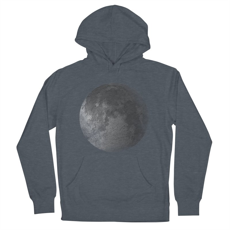 Faded Moon  Women's French Terry Pullover Hoody by Jonathan Wilson