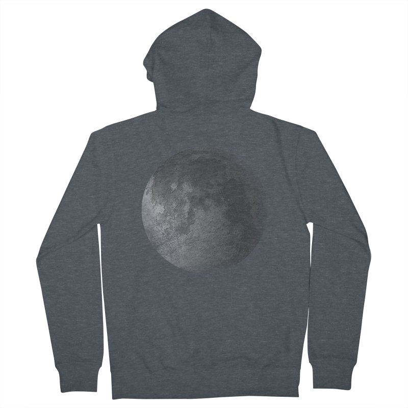 Faded Moon  Men's French Terry Zip-Up Hoody by Jonathan Wilson