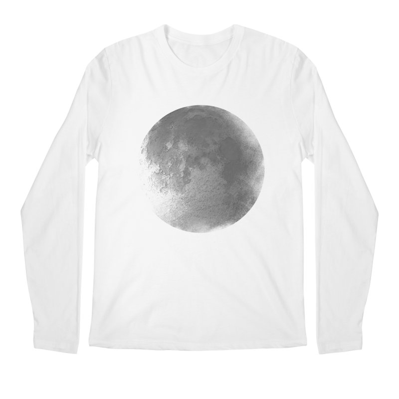 Faded Moon  Men's Regular Longsleeve T-Shirt by Jonathan Wilson