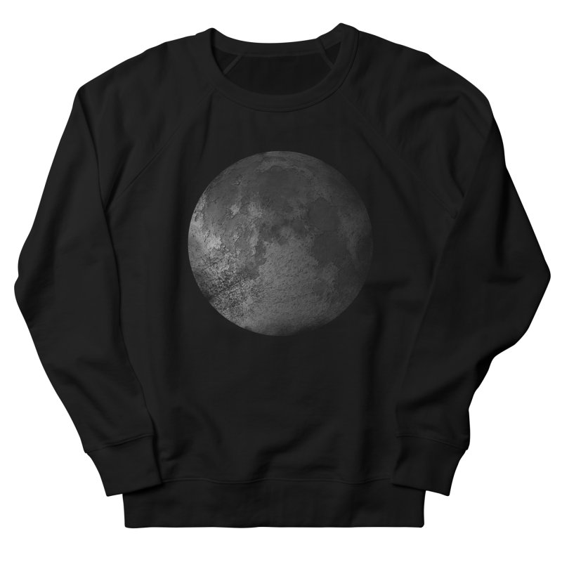 Faded Moon  Women's French Terry Sweatshirt by Jonathan Wilson