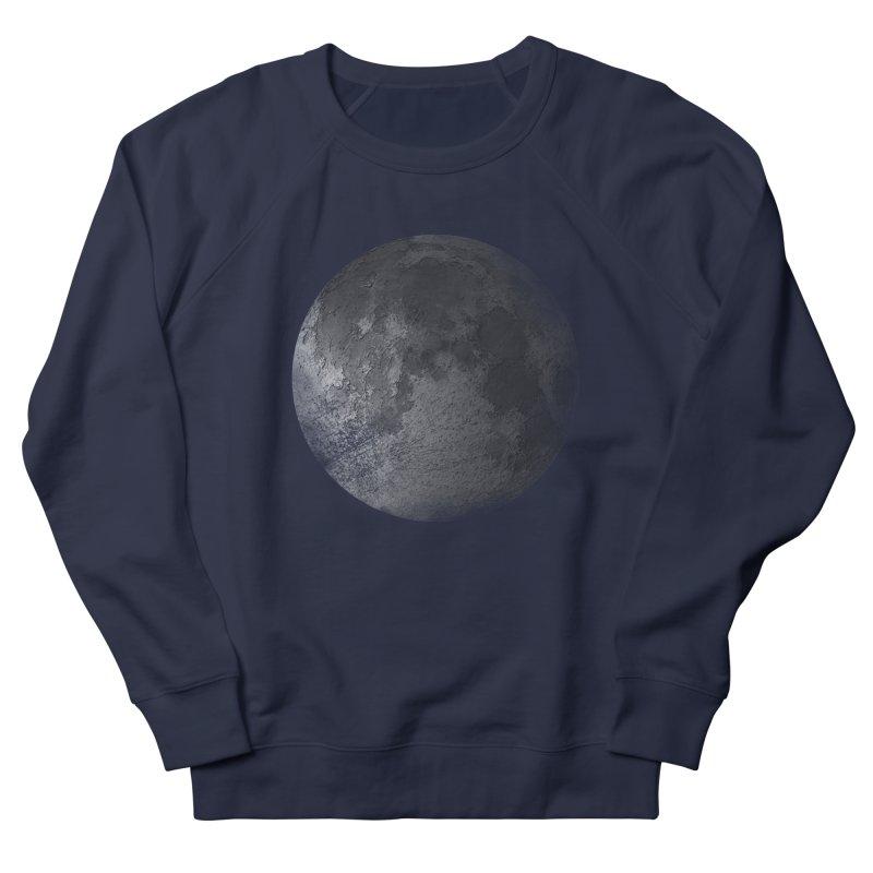 Faded Moon  Women's French Terry Sweatshirt by Jonathan Wilson