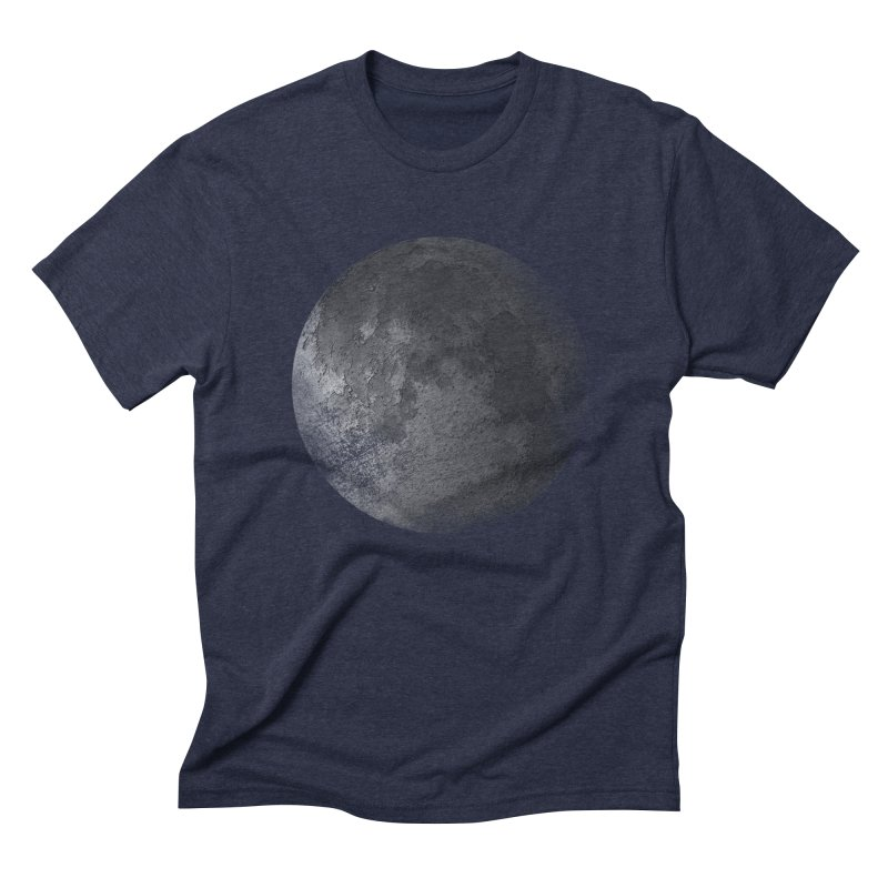 Faded Moon  Men's Triblend T-Shirt by Jonathan Wilson