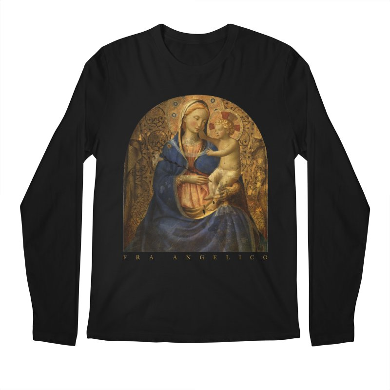 Madonna and Child - Fra Angelico Men's Regular Longsleeve T-Shirt by Jonathan Wilson
