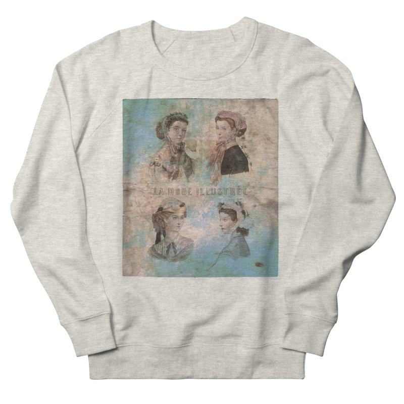 La Mode Illustrée - Vintage Fashion Illustration Design Women's French Terry Sweatshirt by Jonathan Wilson