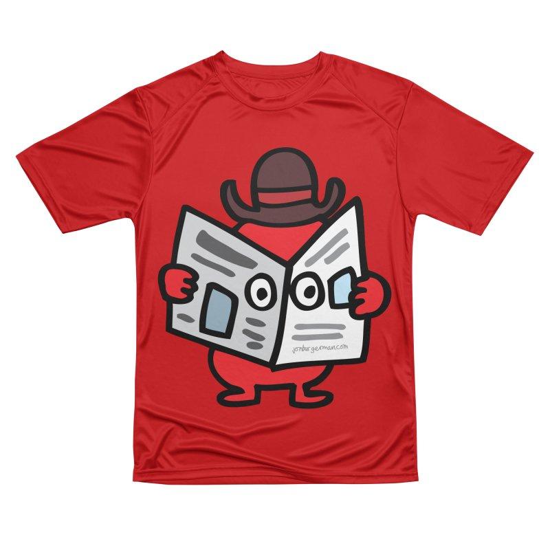 Spy Women's Performance Unisex T-Shirt by Jon Burgerman's Artist Shop