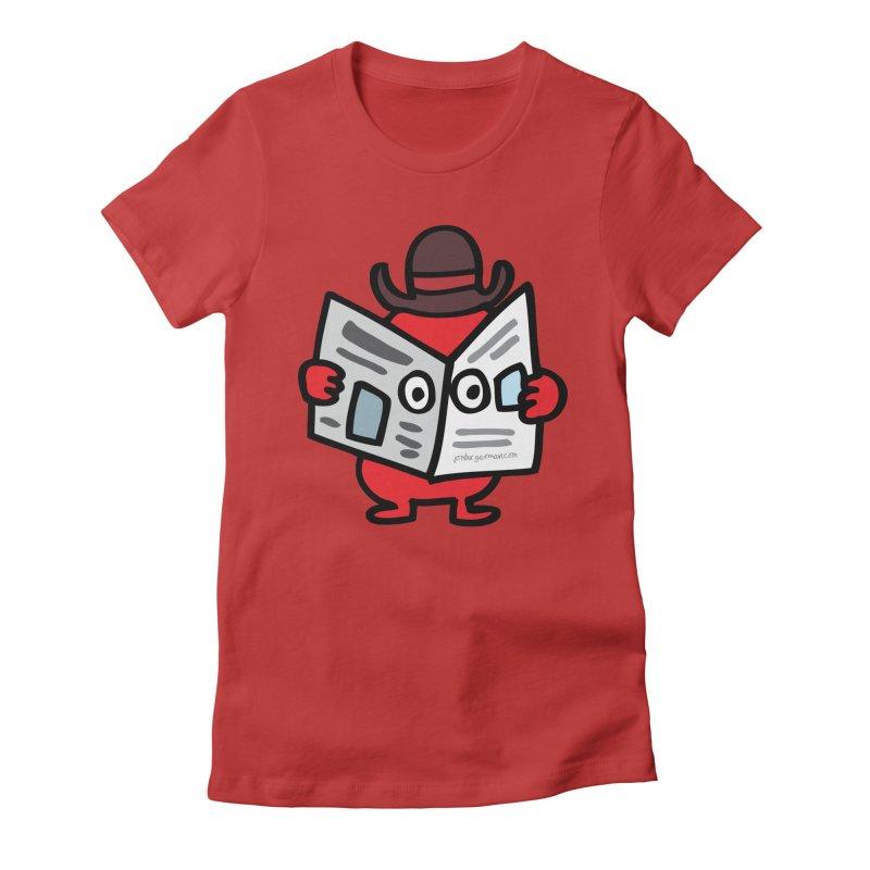 Spy Women's Fitted T-Shirt by Jon Burgerman's Artist Shop