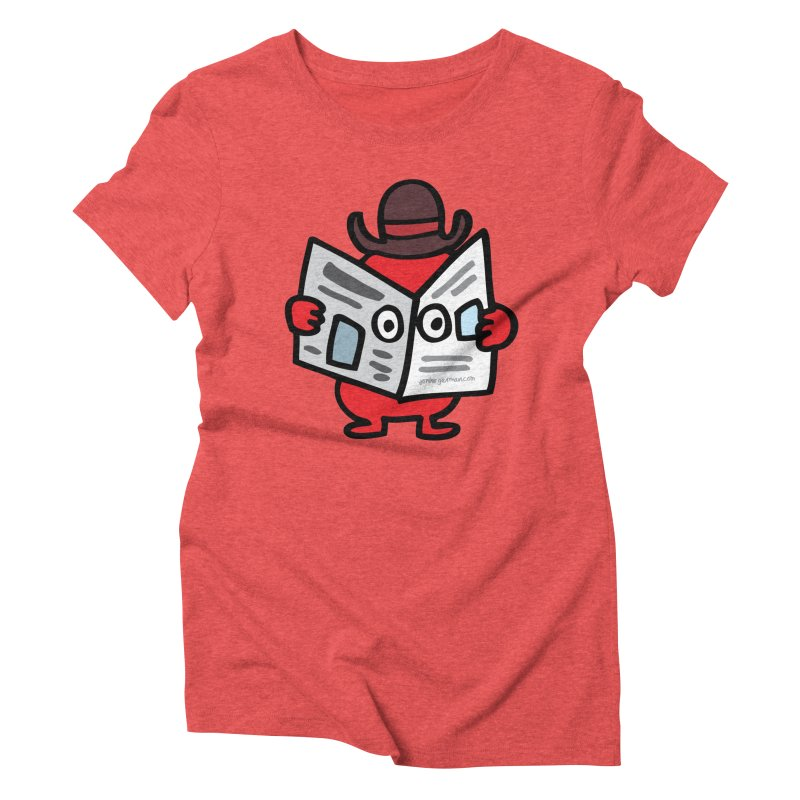Spy Women's Triblend T-Shirt by Jon Burgerman's Artist Shop