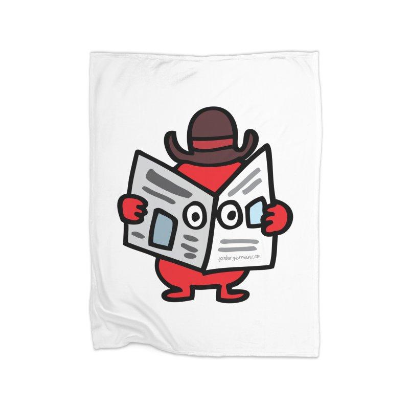 Spy Home Fleece Blanket Blanket by Jon Burgerman's Artist Shop
