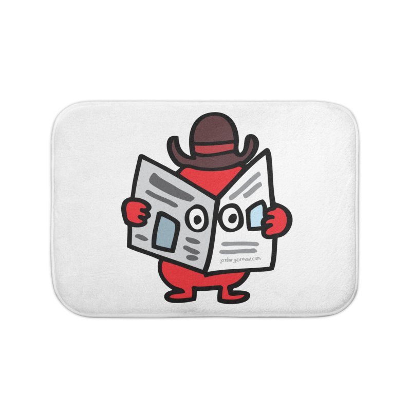 Spy Home Bath Mat by Jon Burgerman's Artist Shop