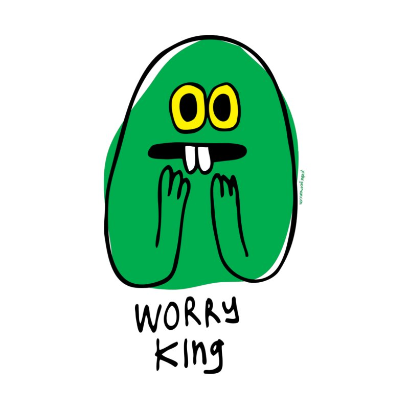Worry King by Jon Burgerman's Artist Shop