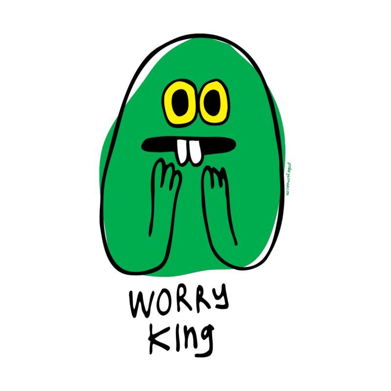 Worry King Men's Pullover Hoody by Jon Burgerman's Artist Shop