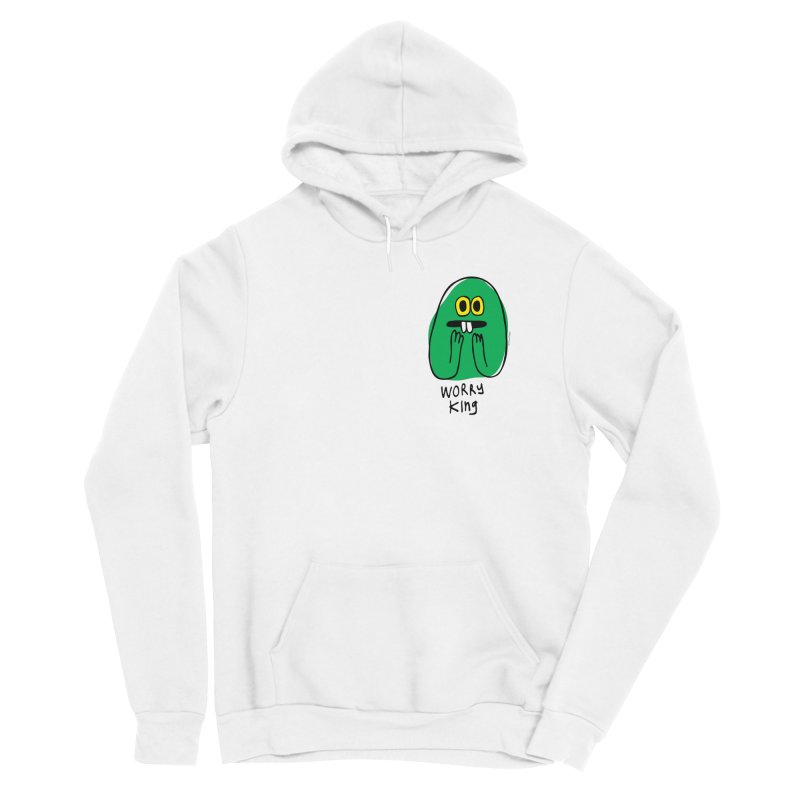 Worry King Men's Sponge Fleece Pullover Hoody by Jon Burgerman's Artist Shop