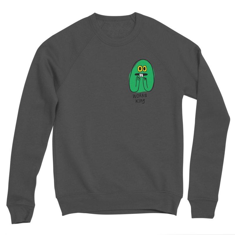 Worry King Women's Sponge Fleece Sweatshirt by Jon Burgerman's Artist Shop