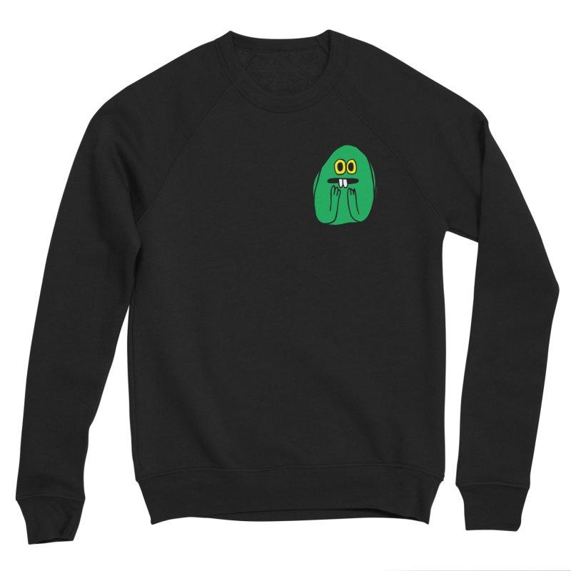 Worry King Men's Sponge Fleece Sweatshirt by Jon Burgerman's Artist Shop