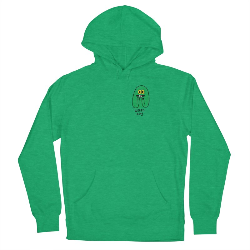 Worry King Men's French Terry Pullover Hoody by Jon Burgerman's Artist Shop