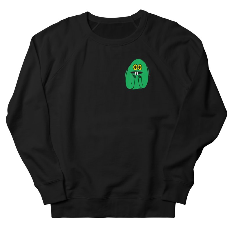 Worry King Men's French Terry Sweatshirt by Jon Burgerman's Artist Shop