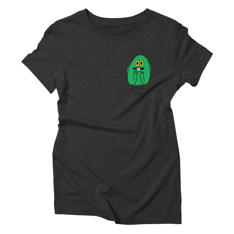 Worry King Women's Triblend T-Shirt by Jon Burgerman's Artist Shop