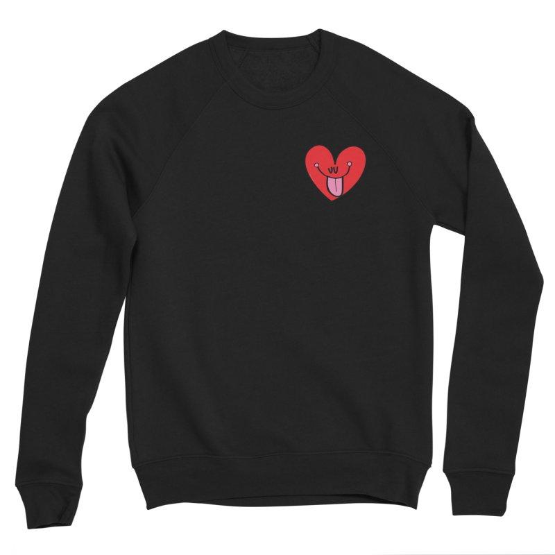 Heart Men's Sponge Fleece Sweatshirt by Jon Burgerman's Artist Shop