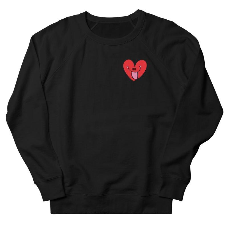 Heart Men's French Terry Sweatshirt by Jon Burgerman's Artist Shop