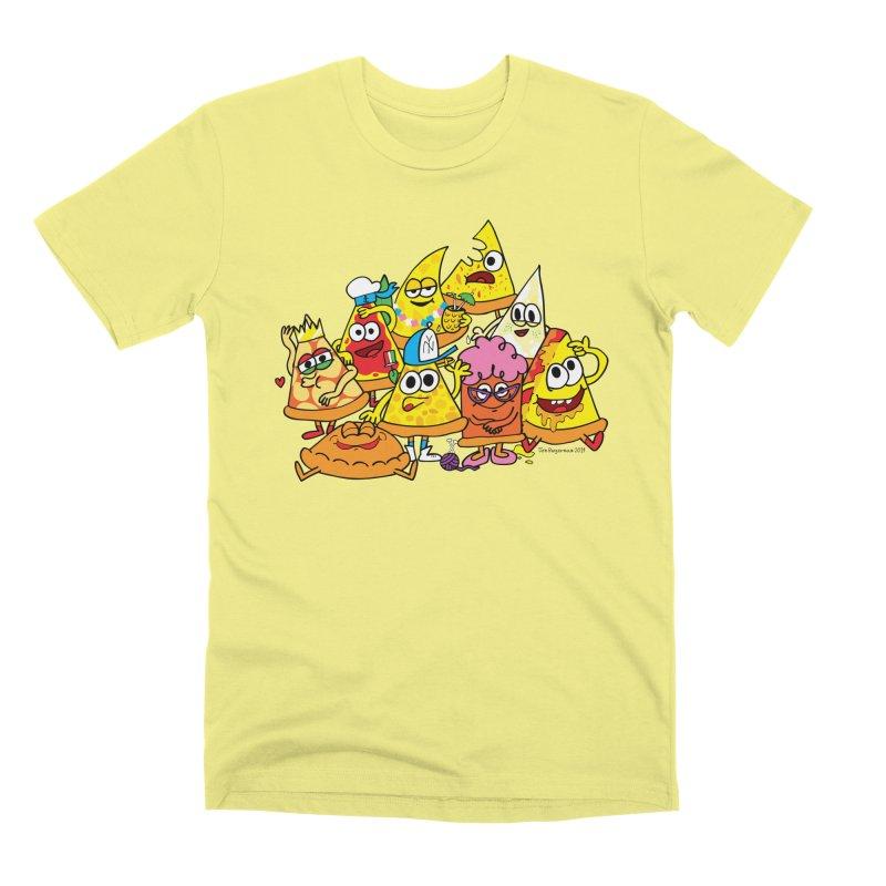 Pizza gang Men's Premium T-Shirt by Jon Burgerman's Artist Shop