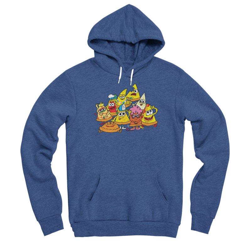 Pizza gang Men's Sponge Fleece Pullover Hoody by Jon Burgerman's Artist Shop
