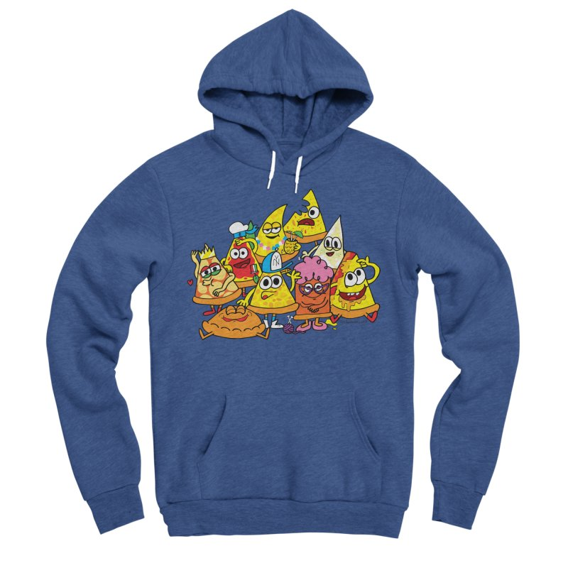 Pizza gang Men's Sponge Fleece Pullover Hoody by Jon Burgerman's Artist Shop