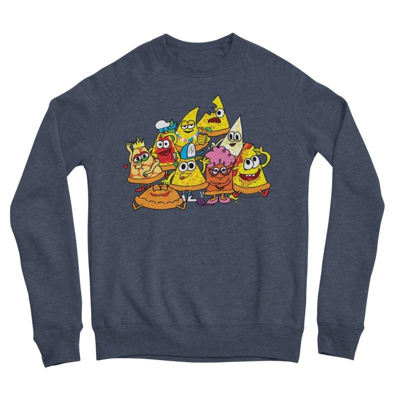 Pizza gang Men's Sponge Fleece Sweatshirt by Jon Burgerman's Artist Shop
