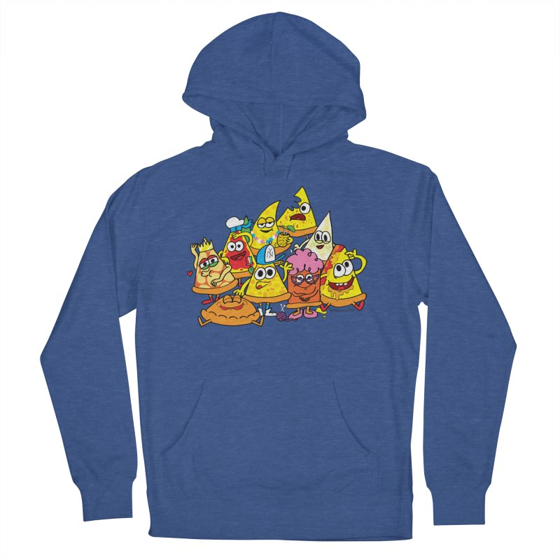 Pizza gang Men's French Terry Pullover Hoody by Jon Burgerman's Artist Shop