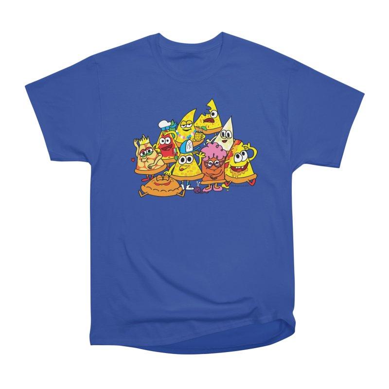Pizza gang Women's Heavyweight Unisex T-Shirt by Jon Burgerman's Artist Shop