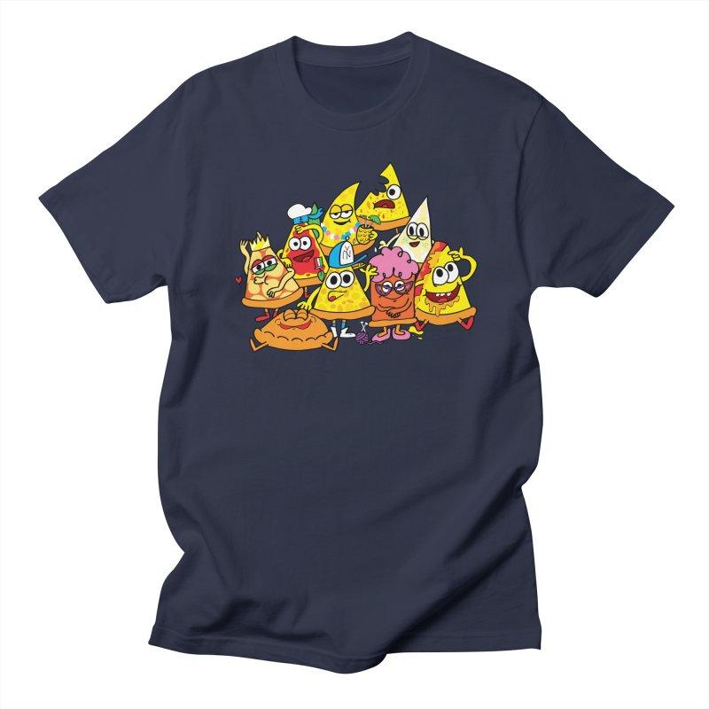 Pizza gang Men's Regular T-Shirt by Jon Burgerman's Artist Shop