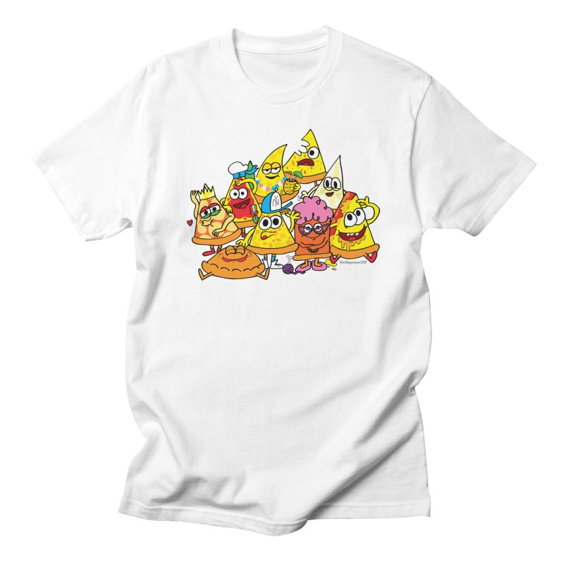 Pizza gang Women's Regular Unisex T-Shirt by Jon Burgerman's Artist Shop