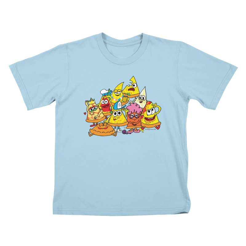 Pizza gang Kids T-Shirt by Jon Burgerman's Artist Shop