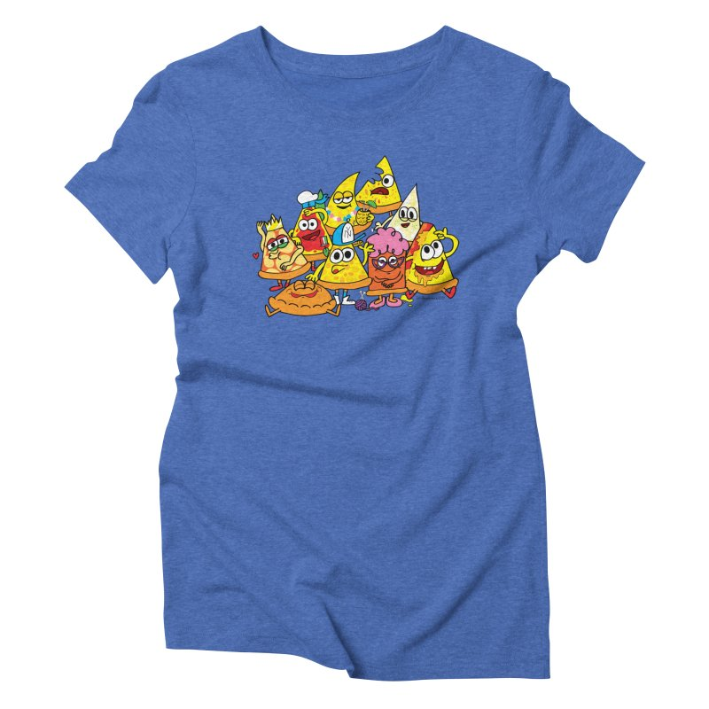 Pizza gang Women's Triblend T-Shirt by Jon Burgerman's Artist Shop