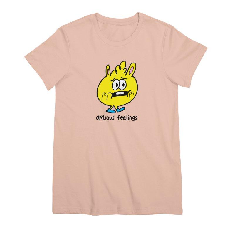 Anxious Feelings Women's Premium T-Shirt by Jon Burgerman's Artist Shop
