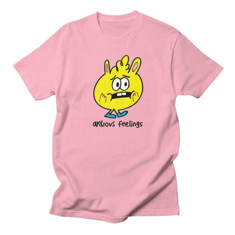 Anxious Feelings Men's Regular T-Shirt by Jon Burgerman's Artist Shop