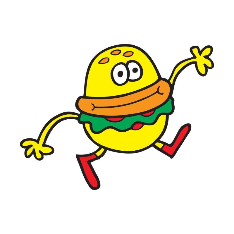 Burger Cheer Men's Pullover Hoody by Jon Burgerman's Artist Shop