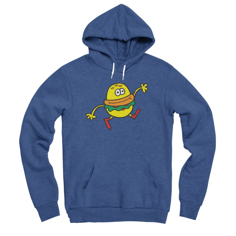 Burger Cheer Women's Sponge Fleece Pullover Hoody by Jon Burgerman's Artist Shop