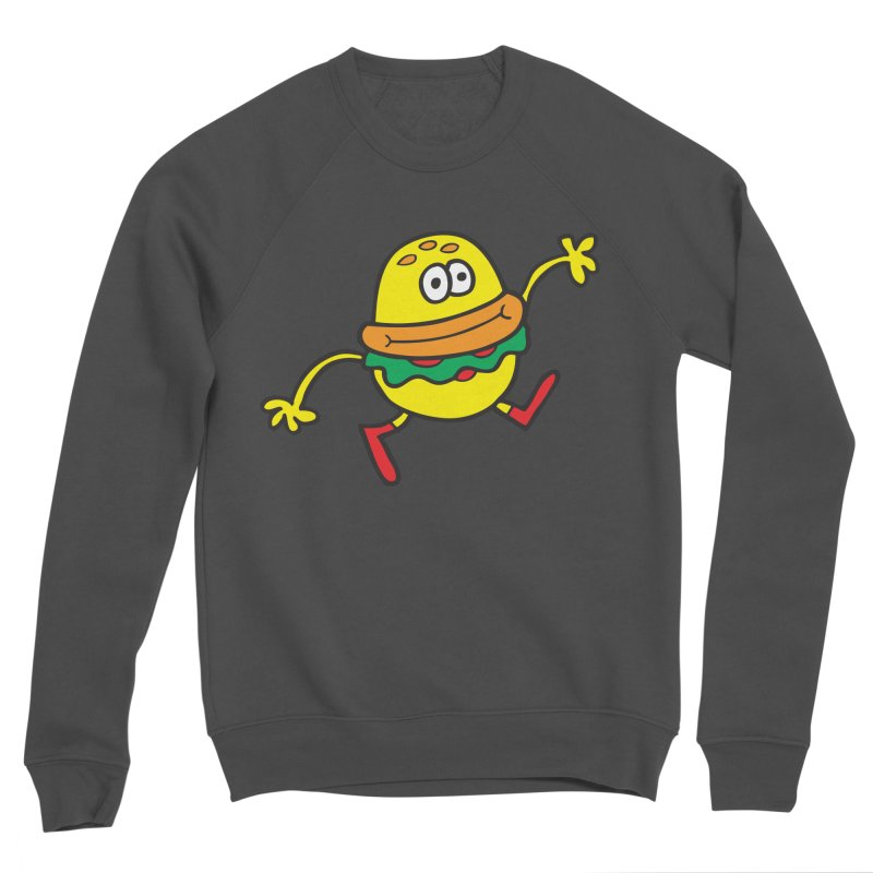 Burger Cheer Women's Sponge Fleece Sweatshirt by Jon Burgerman's Artist Shop