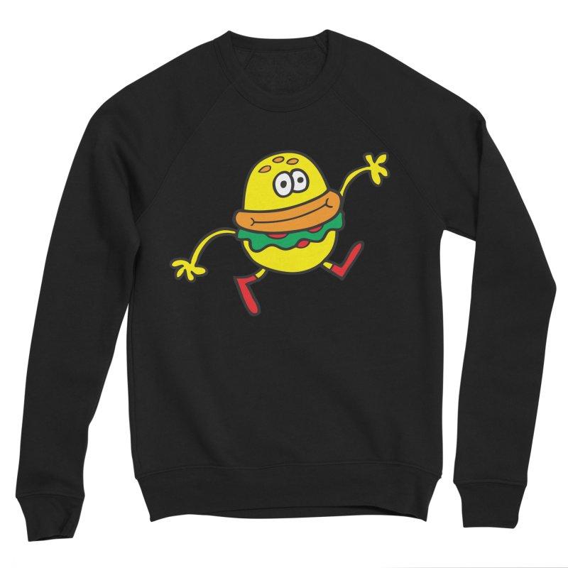 Burger Cheer Men's Sponge Fleece Sweatshirt by Jon Burgerman's Artist Shop