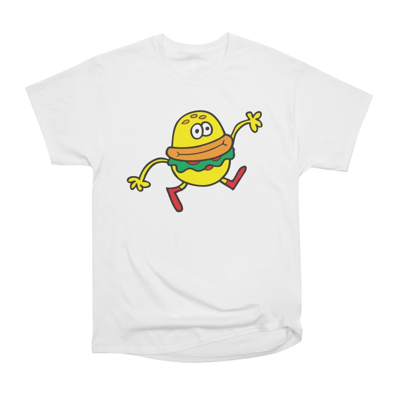 Burger Cheer Women's Heavyweight Unisex T-Shirt by Jon Burgerman's Artist Shop