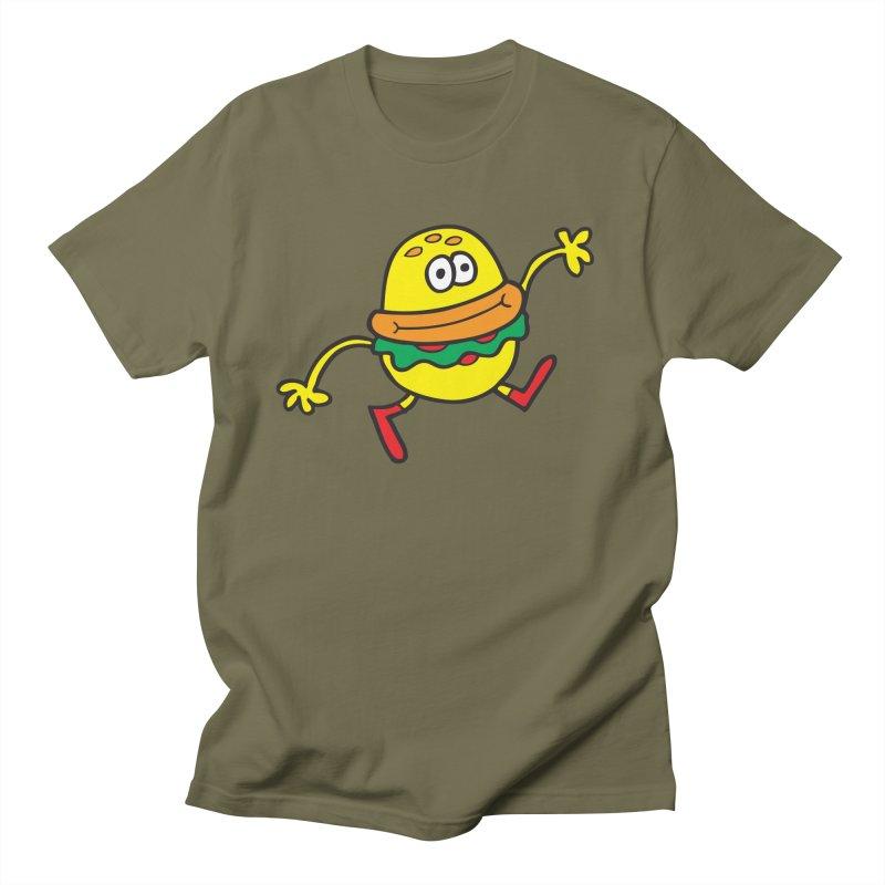 Burger Cheer Men's Regular T-Shirt by Jon Burgerman's Artist Shop