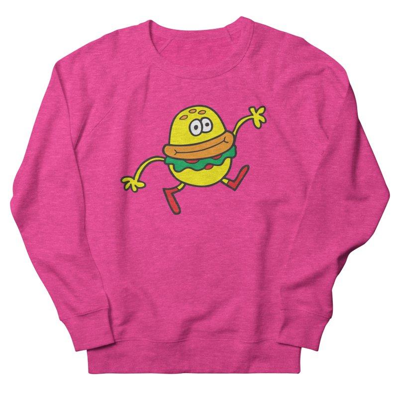 Burger Cheer Men's French Terry Sweatshirt by Jon Burgerman's Artist Shop