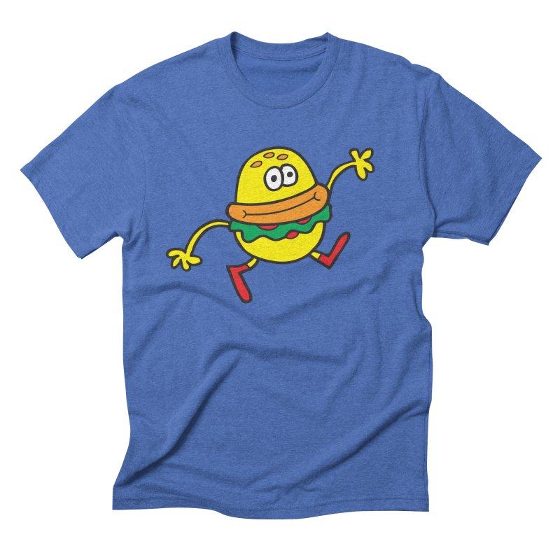 Burger Cheer Men's Triblend T-Shirt by Jon Burgerman's Artist Shop