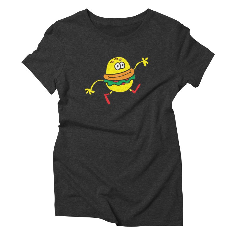 Burger Cheer Women's Triblend T-Shirt by Jon Burgerman's Artist Shop