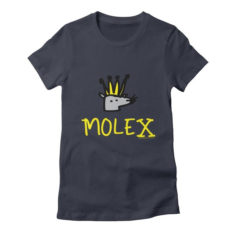 Molex Women's Fitted T-Shirt by Jon Burgerman's Artist Shop