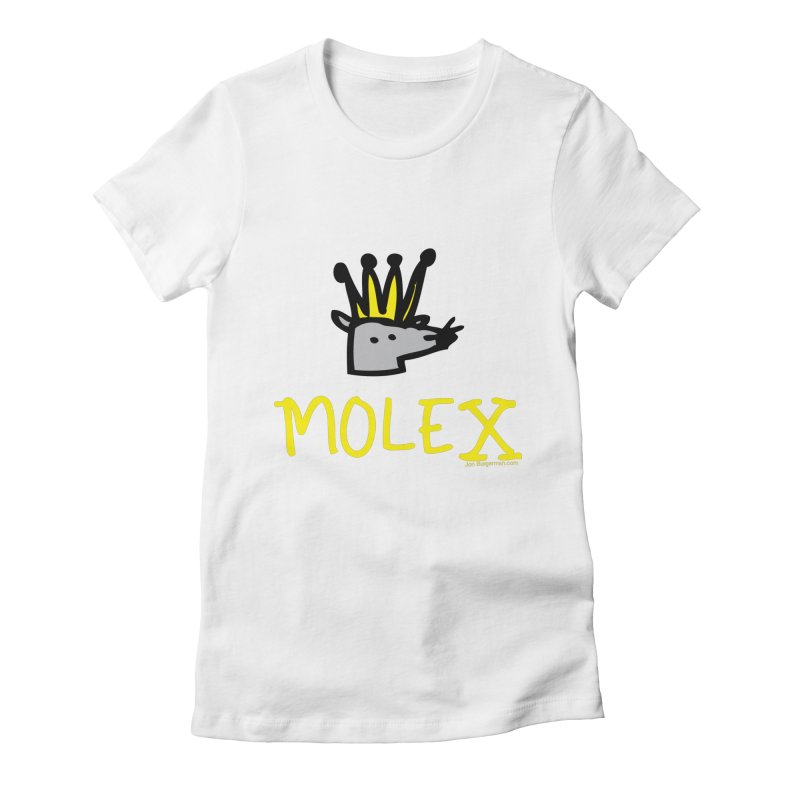 Molex Women's Fitted T-Shirt by Jon Burgerman's Artist Shop