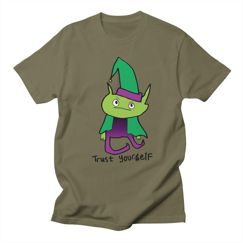Trust Your elf Men's Regular T-Shirt by Jon Burgerman's Artist Shop